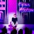 Emma Watson lors de la soirée de lancement de Trésor Midnight Rose