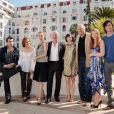 Stanley Weber et l'équipe de la série Borgia le 5 avril 2011 à Cannes