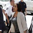 Nafissatou Diallo, la femme de chambre qui accuse Dominique Strauss-Kahn de viol, à New York le 22 août 2011