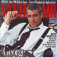 """""""Décembre 1996 : George Clooney fait la Une du magazine  Vanity Fair . """""""