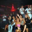 Les candidats des  Ch'tis à Ibiza  s'amusent à Lille au sein de la boîte de nuit La Fabrik, vendredi 2 septembre 2011.