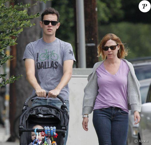 Colin Hanks avec sa femme Samantha et leur fille Olivia, le 20 août 2011 à Hollywood