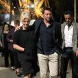 Hugh Jackman, sa femme Deborah et leurs enfants Oscar et Ava à Paris le 5 septembre 2011
