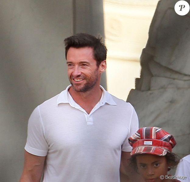Hugh Jackman et sa famille sont reçus à l'Elysée le 4 septembre 2011