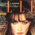 Carla Bruni en couverture du Elle de juillet 1994.