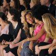 Beyoncé et sa soeur Solange Knowles au défilé printemps-été 2012 de Vera Wang le 13 septembre 2011