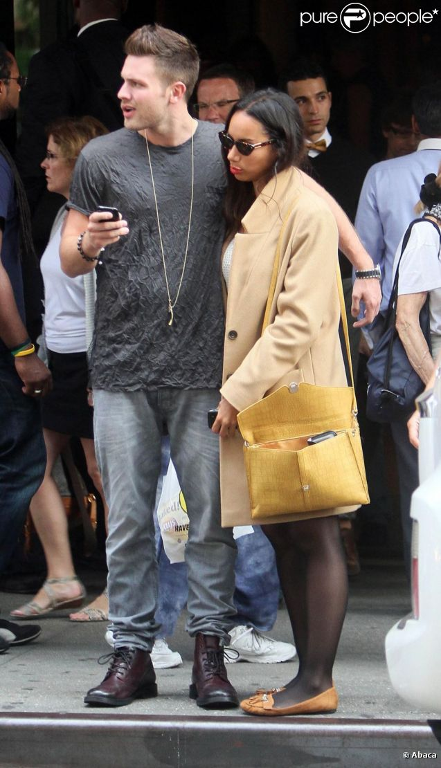 Leona Lewis et son chéri Dennis Jauch dans les rues de New York le 14 septembre 2011