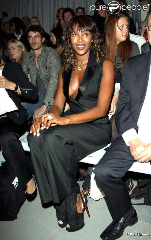 Naomi Campbell au show Toni and Guy lors de la fashion week londonienne le  15 septembre 7307eb610d5a