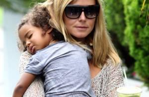 Heidi Klum : La super maman pouponne toujours avec classe