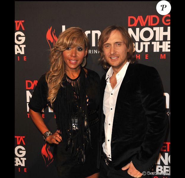 David Guetta présente en avant-première son documentaire Nothing but the beat : The Movie, samedi 17 septembre 2011 au Grand Rex, à Paris.
