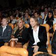 David Guetta présente en avant-première son documentaire  Nothing but the beat : The Movie , samedi 17 septembre 2011 au Grand Rex, à Paris.
