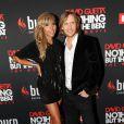 Entouré de son épouse Cathy, David Guetta présente en avant-première son documentaire  Nothing but the beat : The Movie , samedi 17 septembre 2011 au Grand Rex, à Paris.