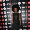Inna Modja à la soirée de lancement de FIFA 12 au VIP ROOM à Paris le 19 septembre 2011