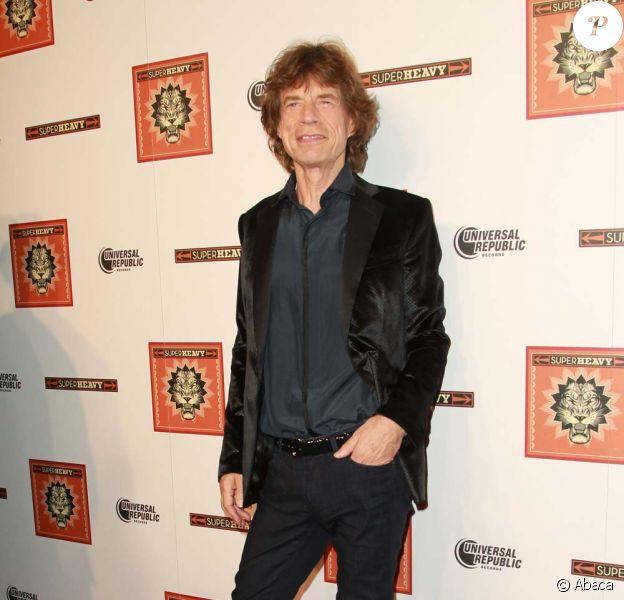 Mick Jagger, lancement de l'album de SuperHeavy, à New York, le 21 septembre 2011.