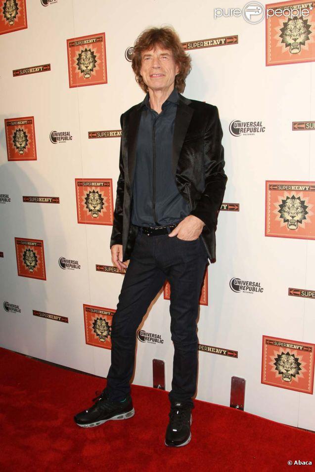 Mick Jagger, lancement de l'album de  SuperHeavy , à New York, le 21 septembre 2011.