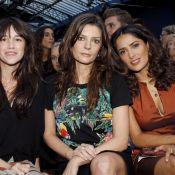 Fashion Week: Charlotte Gainsbourg, Salma Hayek, jolies modeuses chez Balenciaga