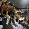 David Beckham à Los Angeles lors du match entre les LA Galaxy et le Real Salt Lake City le 1er octobre 2011