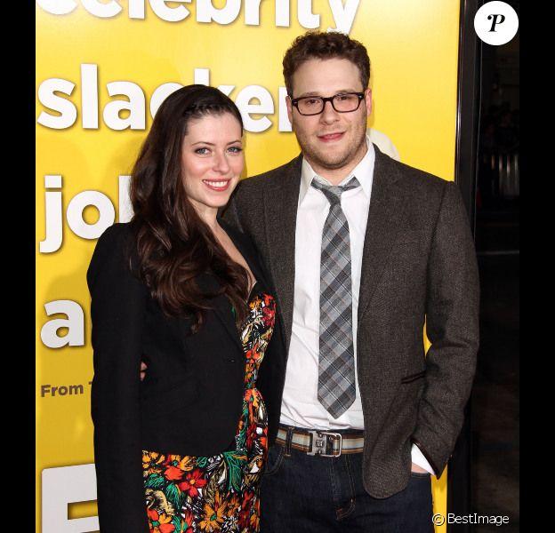 Seth Rogen et Lauren Miller lors de l'avant-première de Paul en mars 2011