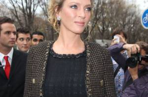 Fashion Week : Uma Thurman et Virginie Ledoyen rivalisent de beauté chez Chanel