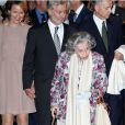 La famille royale belge, y compris la reine Fabiola, était réunie mardi 4 octobre 2011 au Palais des Beaux-Arts de Bruxelles pour l'inauguration de l'exposition Europalia, dédiée cette année au Brésil.