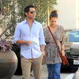 Jessica Alba et Cash Warren vont au magasin Ralf Lauren à Los Angeles, le 7 octobre 2011