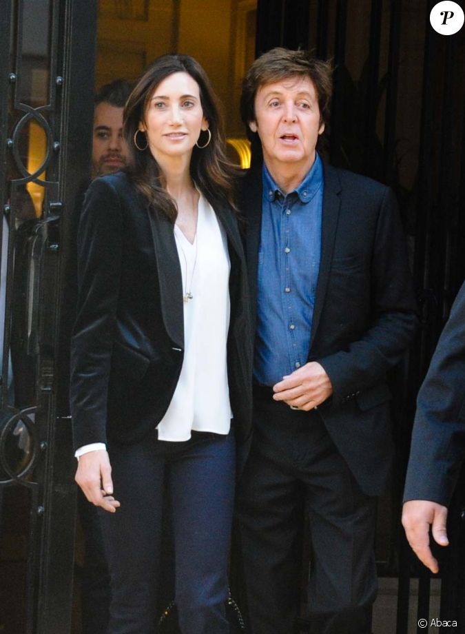 paul mccartney et nancy shevell paris le 3 octobre 2011. Black Bedroom Furniture Sets. Home Design Ideas