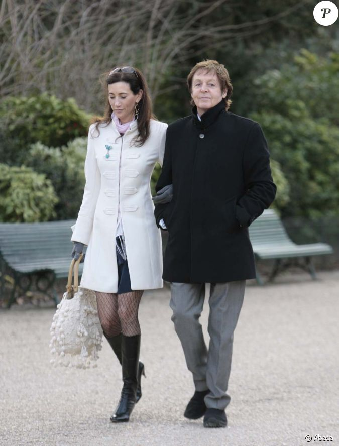 paul mccartney et nancy shevell paris le 9 mars 2009. Black Bedroom Furniture Sets. Home Design Ideas