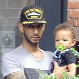 Swizz Beatz et son fils Egypt à New York le 27 septembre 2011