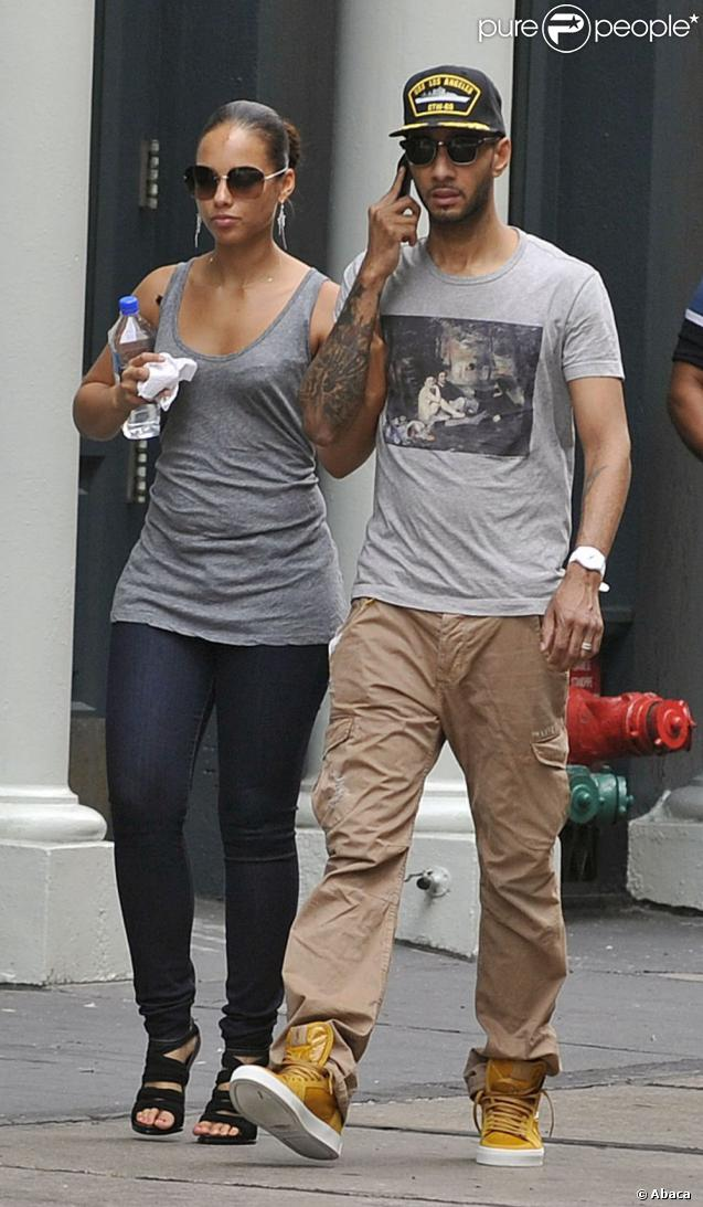 Alicia Keys et son mari Swizz Beatz à New York le 27 septembre 2011