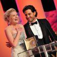 Edgar Ramirez a remis le prix d'interprétation à Kirsten Dunst pour Melancholia le 22 mai 2011.