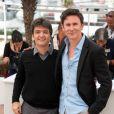 Thomas Langmann et Michel Hazanavicius au festival de Cannes en 2011