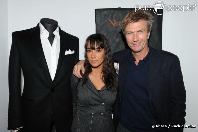 Philippe Caroit et Karine Lima lors de l'inauguration de la boutique pour homme NeoMundo, à Paris, le 18 octobre 2011