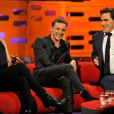 Kate Winslet et Jamie Bell lors de l'enregistrement de l'émission The Graham Norton Show à Londres le 20 octobre 2011