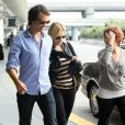 Kate Winslet et son nouveau chéri Ned Rockroll, neveu de Richard Branson, arrivent à l'aéroport de San Francisco le 14 octobre 2011, plus de doute sur leur amour !