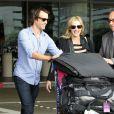 Kate Winslet et son nouveau chéri Ned Rockroll, neveu de Richard Branson, arrivent à l'aéroport de San Francisco le 14 octobre 2011.