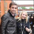 Audrey Lamy et son amoureux Thomas en mai 2010 à Roland Garros