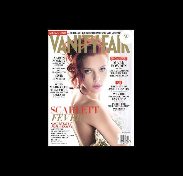 Scarlett Johansson en couverture du Vanity Fair du mois de décembre.