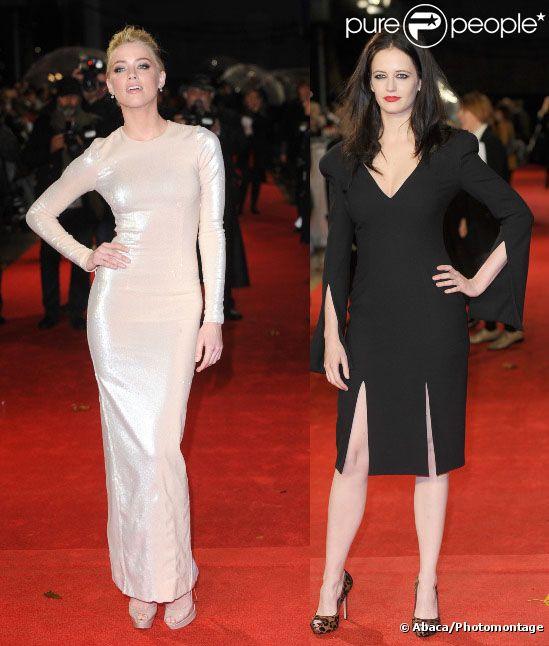 Amber Heard et Eva Green pour l'événement Rhum Express à Londres, le 3 novembre 2011.