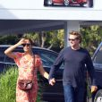 Simon Baker et Rebecca Rigg, le 30 octobre 2011 à Santa Monica