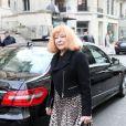 Bettina Graziani lors des obsèques de Loulou de la Falaise, jeudi 10 novembre 2011, à l'église Saint-Roch à Paris