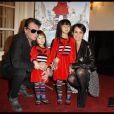 Johnny Hallyday, sa femme Laetica et leurs filles Jade et Joy, le 6 novembre 2011 à Paris