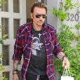 Johnny Hallyday en avril 2011 à Los Angeles