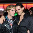 """""""Mikelangelo Loconte (Mozart) et Golan Yosef (Dracula) au club Six Seven à Paris le 19 novembre 2011"""""""