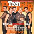 Le boysband star des États-Unis, les 'N Sync, en une du magazine Teen People de février 1999.