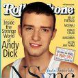 Août 2001 : Justin Timberlake pose en Une de Rolling Stone.