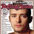 Bouc et crâne rasé : Justin Timberlake change de look et fait la Une de Rolling Stone. Décembre 2009.