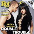 Justin Timberlake et Christina Aguilera flirtent dangereusement sous les yeux du Rolling Stone. Juin 2003.