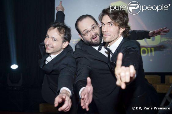 Les trois organisateurs des Gérard Frédéric Royer, Arnaud Demanche et Stéphane Rose animeront les Gérard 2011, le 20 décembre 2011 sur Paris Première