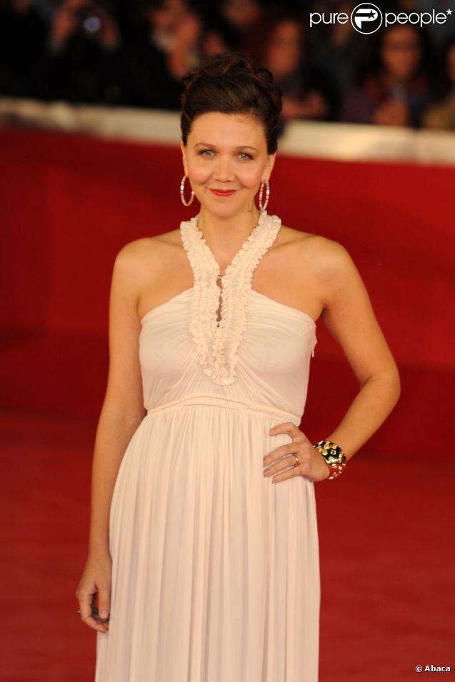 Maggie Gyllenhaal lors du Festival du film de Rome le 28 octobre 2011