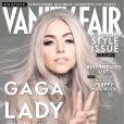 Lady Gaga en couverture de  Vanity Fair , shootée par Nick Knight, septembre 2010.